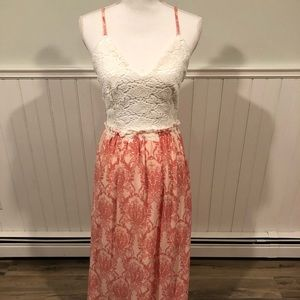 Last one! Lace Top Dress with Open Back